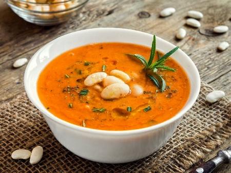 Крем супа от горски гъби (замразени) с бял боб (зрял фасул) от консерва - снимка на рецептата